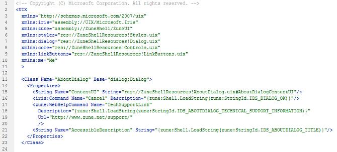 UIX code snippet