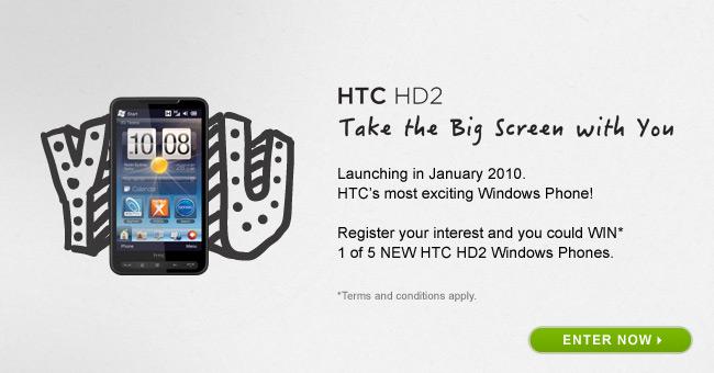HTC HD2 giveaway