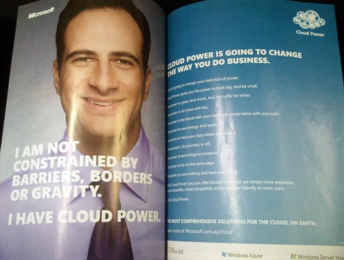 Microsoft Cloud Power magazine ad
