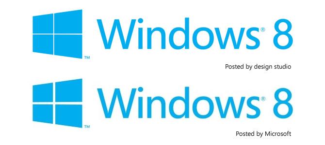 Windows 8 logo difference
