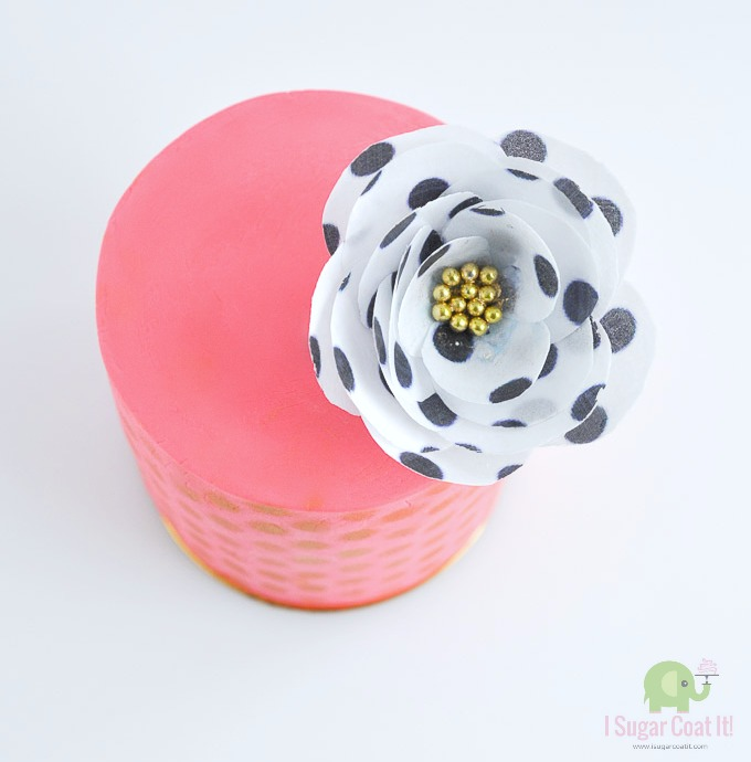 Simple Wafer Paper Flower Tutorial