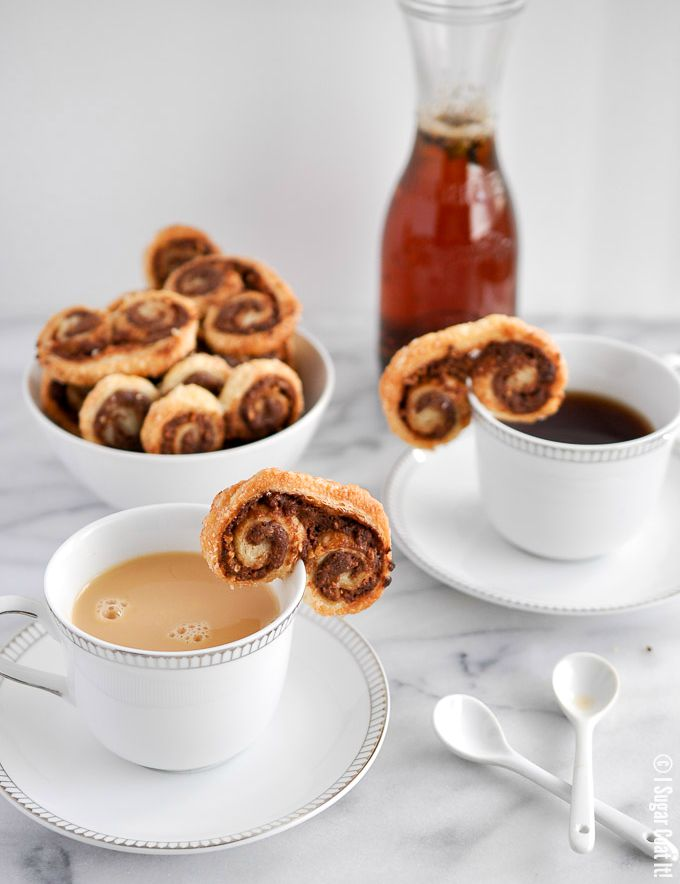 Peanut Butter Chocolate Palmiers - I Sugar Coat It