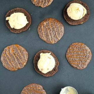 Brownie Crisps Pumpkin Ice Cream Sandwich