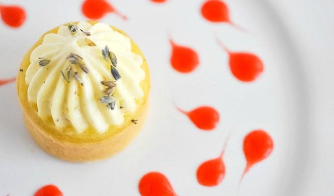 Lemon Lavender Coconut Mousse Mini Tarts