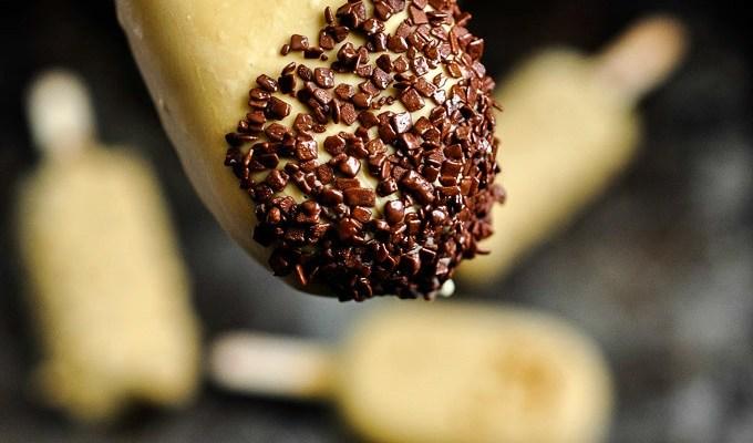 Hazelnut Milk Triple Chocolate Popsicles