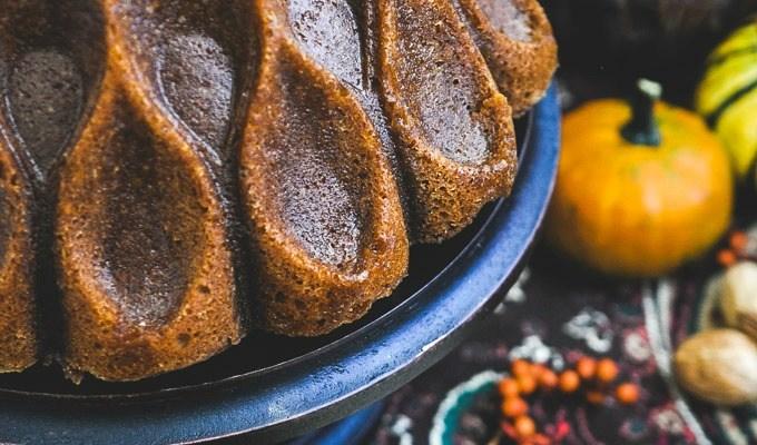 Browned Butter Pumpkin Caramel Bundt Cake