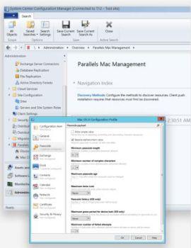 Ausschnitt: Microsoft SSCM samt Parallels Mac Management