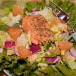 Blood Orange Vinaigrette on Salmon Salad