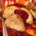 Pork Tenderloin with Dijon Cranberry Sauce