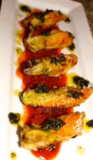 Stuffed Fried Zucchini Blossoms with Fresh Tomato Sauce and Basil ...