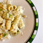 Rigatoni with Pesto and Parmigiano Reggiano Guest Post Chiara from La Voglia Matta