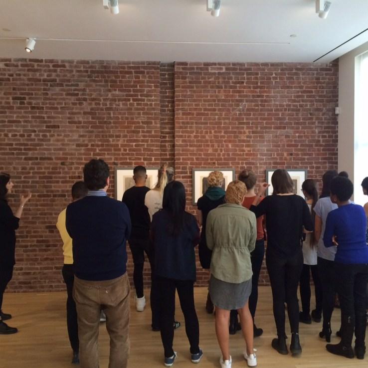 Lucia Piccioni, Fall 2015 Fellow, leading a tour of Giorgio Morandi for Columbia University students