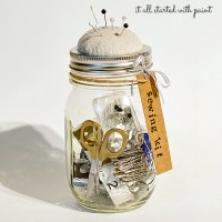 mason jar sewing kit
