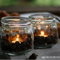 Acorn Mason Jar Votives