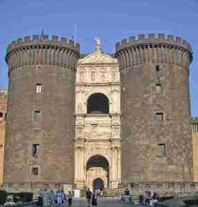 Castel Nuovo in Naples Italy