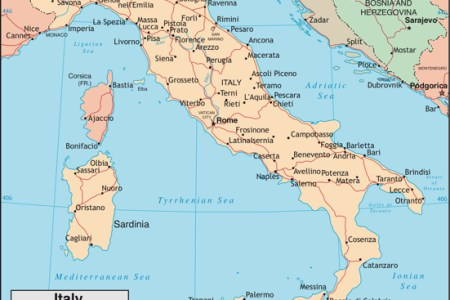 Map Ot Italy - Map ot the us