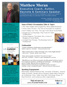 matthew moran keynote speeches and workshops