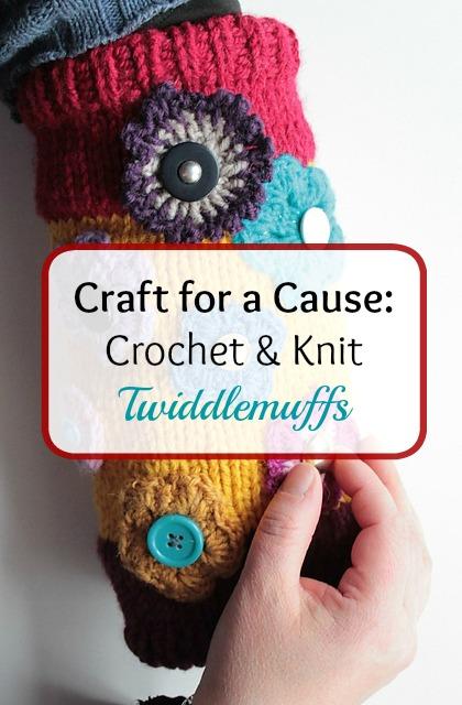 Craft for a cause: twiddlemuffs by http://www.itchinforsomestitchin.com