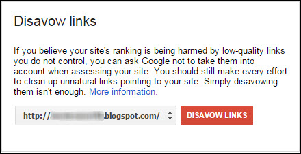 Disavow links to block spammy backlinks