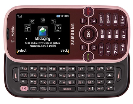 T-Mobile samsung Gravity 2 SGH-T469 QWERTY phone plumpink