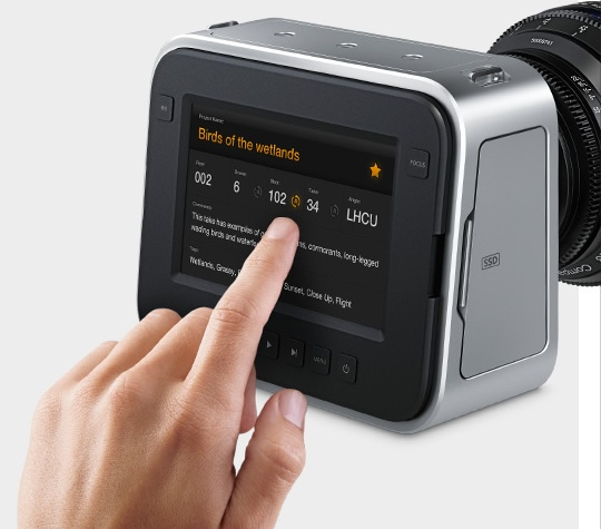 Blackmagic Production Camera 4K Digital Film Camera display