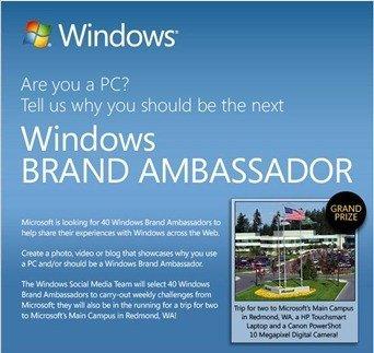 Windows® Brand Ambassador