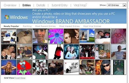 Windows® Brand Ambassador Entries