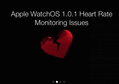 WatchOS 1.0.1 Has Messed Up Apple Watch Heart Rate Readings