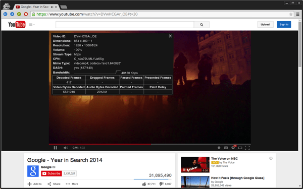 h264ify for Chrome Enables H.264 Video Streaming on YouTube For Reduced CPU Usage