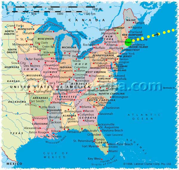 The Best Ever East Coast Road Trip Itinerary Map Us Road Map East