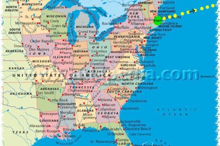 pin map of east coast usa united states on pinterest