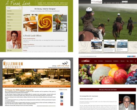 Four websites on one page