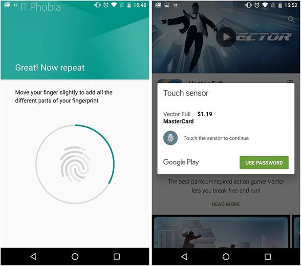 Android 6.0.1 Marshmallow Fingerprint API