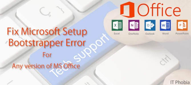 Microsoft Setup Bootstrapper has stopped working Solved