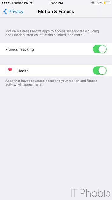 iOS 9 Battery drain Motion & Fitness