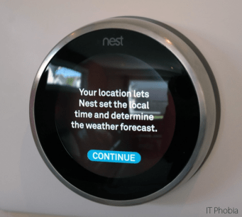 Nest Learning Thermostat 3rd Generation Location