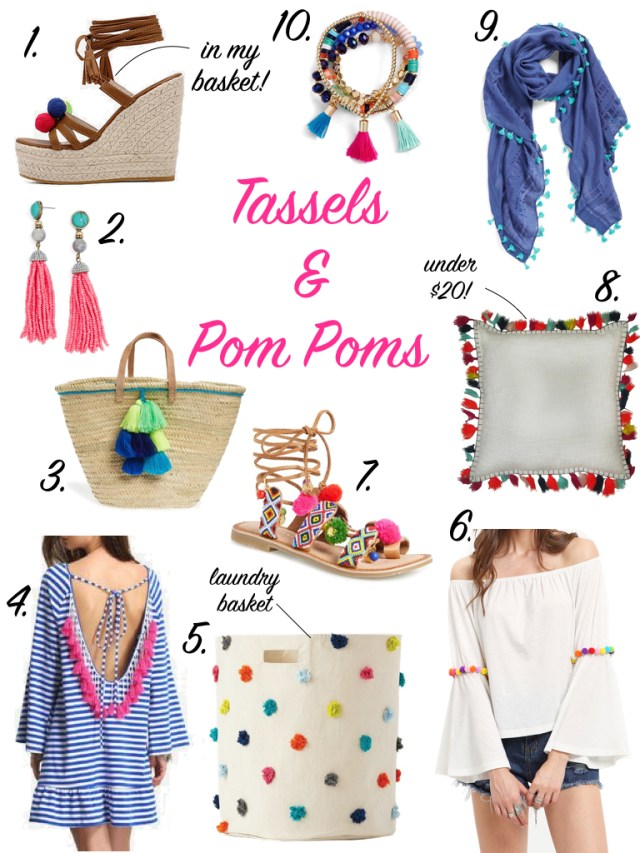 Tassels & Pom Poms | Gifts for the Fashionista | it's All Chic To Me