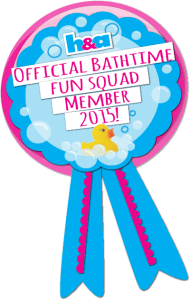 We're Part Of the Bathtime Fun Squad 2015!