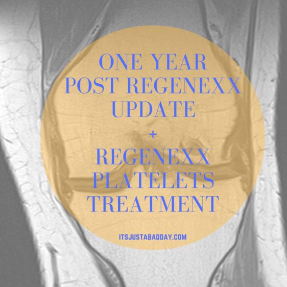 One Year Regenexx Celebration + Platelets Procedure