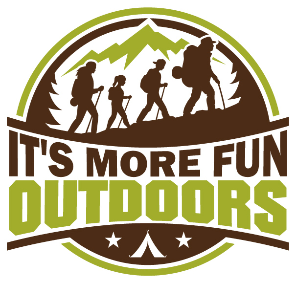 The new logo for It's More Fun Outdoors!!