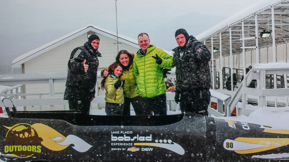 We survived! Team photo once we completed our Olympic bobsled run. Lake Placid, NY 2.14.15