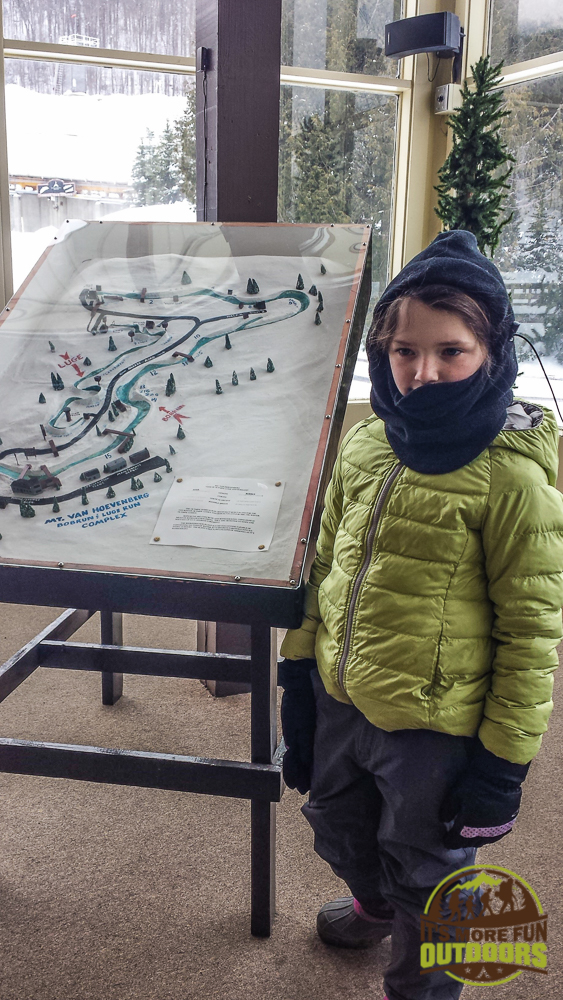 A model of the site: Passing time while we wait to ride the Bobsled: The Olympic Bobsled Museum 02.14.15 LAKE PLACID, NY