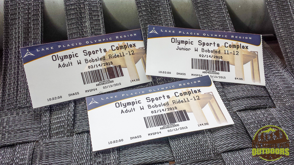 Tickets to RIDE! They were NOT the price stated on the tix and with our passports, we got another 20% off. Passing time while we wait to ride the Bobsled: The Olympic Bobsled Museum 02.14.15 LAKE PLACID, NY