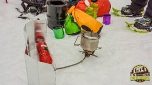 3.8.15: Making coffee at sunrise on Mt Jo, Adirondacks, NY