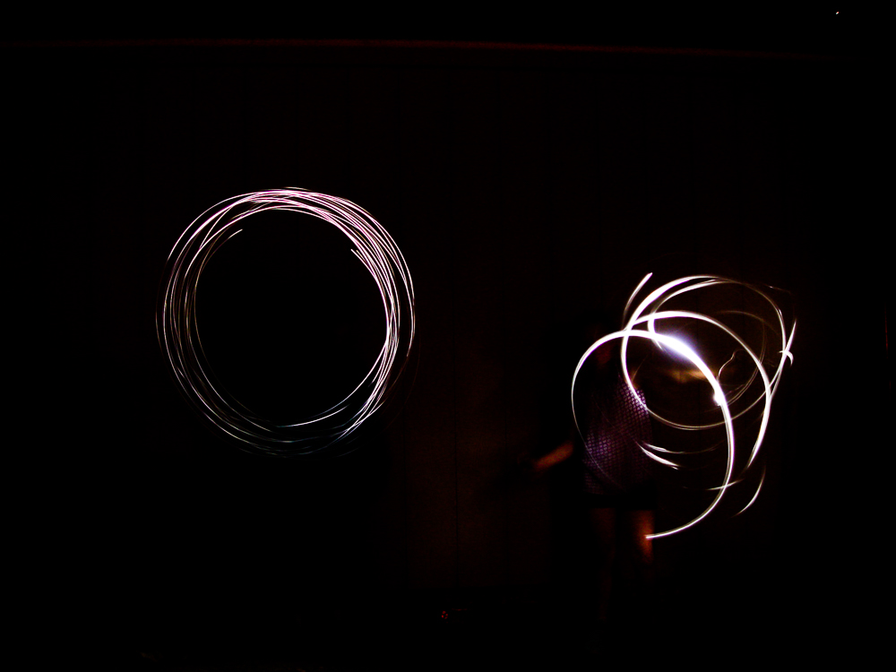 Our first attempt at light painting!