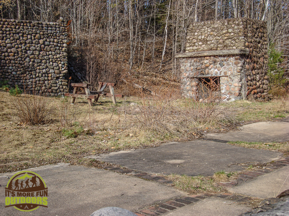 Ruins of a building once owned by A.A. Low. May 2015 Bog River Flow Hike, Paddle, Camp!
