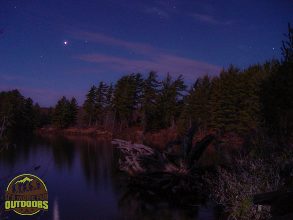 We barely needed our headlamps because the full moon was so bright! 2015 BOG RIVER FLOW-CAMPSITE 13