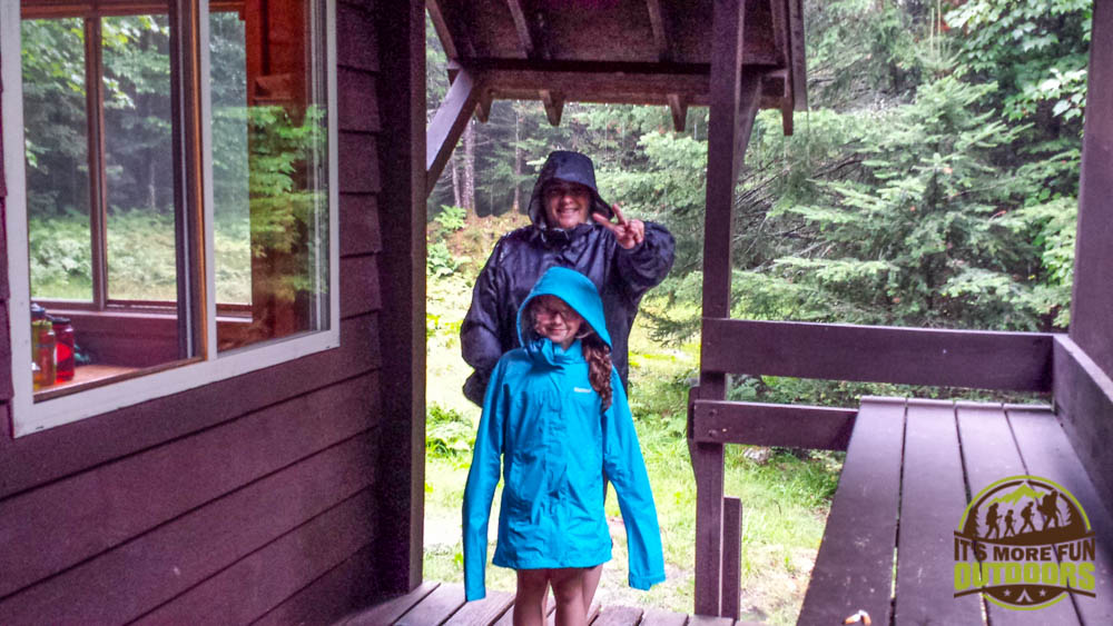 Trail Tip Tuesday: The First Family Backpacking Trip Tip #5: Address their fears honestly, and when in doubt, plan conservatively. Enjoying a big storm from the safety of a wilderness cabin porch. Dora's biggest wilderness fears are bears and lightning storms, so her first backpacking trip was to Grace Camp, a cabin 3.5-miles in the wilderness.