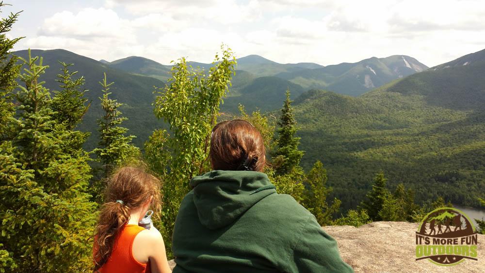 Dora and me on the summit of Mt. Jo, a short but steep hike with very rewarding views. The trail starts just steps away from the Adirondak Loj at Heart Lake, Lake Placid, Adirondacks, NY