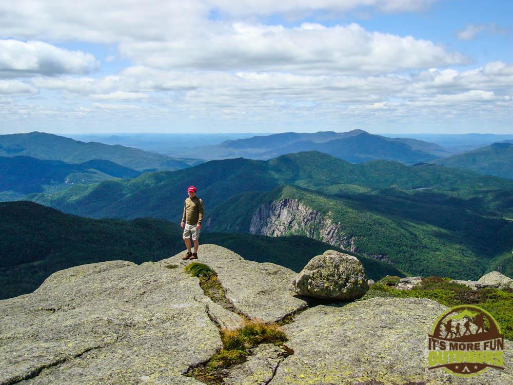 Chris on the summit of Iroquois Peak, a climb you can do from the Adirondak Loj, Adirondacks, Lake Placid, NY